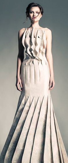 Jean Louis Sabaji Couture S/S 2013 This would be stunning for an ultramodern wedding! LOVE LOVE LOVE
