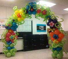 Unique Balloon Flower Arch