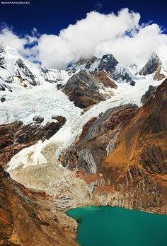 Unknown glacier in Cordiliera Huayhuash Peru, South America Bolivia, Machu Picchu, Beautiful Sites, Beautiful Places, Places To Travel, Places To See, Travel Destinations, Andes Peru, National Parks
