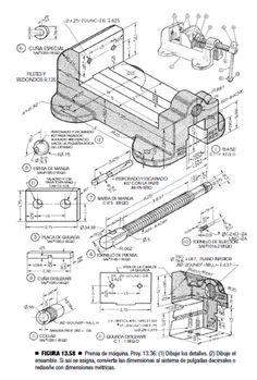 Figura 13.58 Prensa de máquina Ejercicio de Modelado del