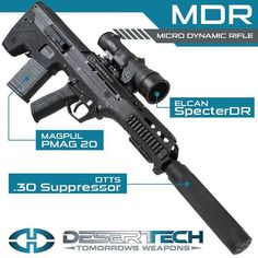 ONLY THE MDR. ONLY FROM DESERT TECH. The MDR is coming and if you thought we wouldn't trick it out before the next field test then you haven't been paying attention. Sign up for inside scoops and sneak peeks here: http://deserttech.com/mdr