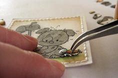 Splitcoaststampers - Tutorials: Mariska van der Veer: 3-D Paper Piecing