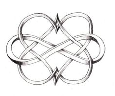 two hearts entwined in infinity sign | Double Infinity Heart Tattoo