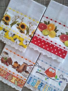 Kitchen Towels, Kitchen Decor, Crochet Kitchen, Sewing Projects, Napkins, Alice, Scrap, Tableware, Pattern