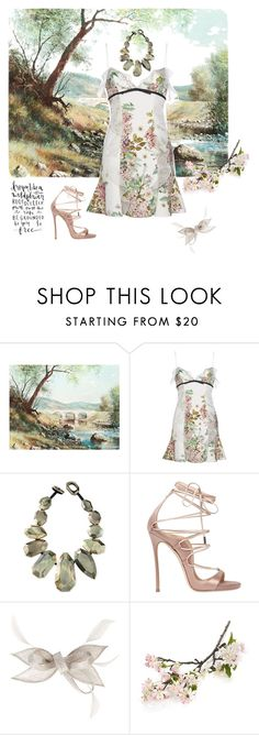"""""""River pearl"""" by highly-fashionable-shark ❤ liked on Polyvore featuring Giambattista Valli, Viktoria Hayman, Dsquared2, Crate and Barrel and statementnecklaces"""