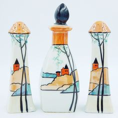Vintage James Studio Salt and Pepper Shakers Oil Vinegar Bottle Scenic Set Japan | Collectibles, Decorative Collectibles, Salt & Pepper Shakers | eBay!