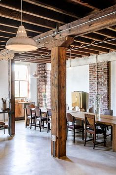 Love the wood beam, maybe in the kitchen if tear out a wall.