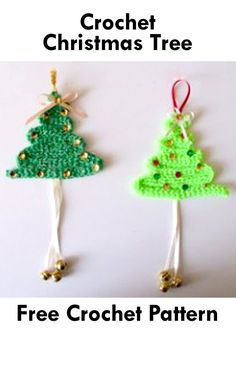 This article features awesome crochet patterns for Christmas tree appliques that are absolutely free! Crochet these free Christmas tree patterns for yourself or to give away as presents! Crochet Tree, Christmas Tree Pattern, Crochet Christmas Ornaments, Crochet Bunny, Free Crochet, Christmas Crafts, Wall Hanging Christmas Tree, Xmas Tree, Tree Patterns