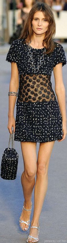 hsort blue dress @roressclothes closet ideas women fashion outfit clothing style CHANEL - Spring 2015: