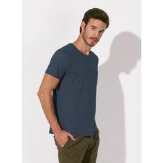 unite basic organic cotton vintage dyed round neck t-shirt - men