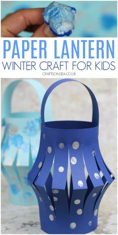 Art therapy activities for kids This easy winter lantern craft for kids is the perfect way to bring some light into the darker months and would be a great way to practice scissor skills or celebrate the winter solstice. Winter Crafts For Toddlers, Winter Activities For Kids, Paper Crafts For Kids, Winter Kids, Toddler Crafts, Preschool Crafts, Printable Paper Crafts, Kid Activites, Science Crafts