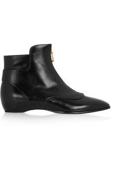 Tod's Glossed-leather ankle boots   NET-A-PORTER