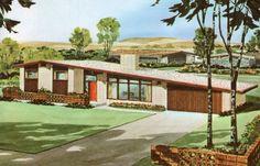 Image result for mid century mod split level home