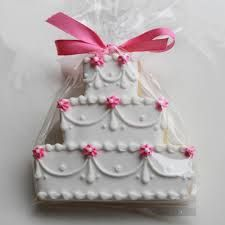 wedding cake cookie - Google Search