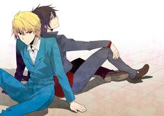 Raijin!Shizuo and Izaya. I can just hear izaya 's version of HITO HITO HITO playing in the background for this picture!~ who's with me, ladies?!~ look it up if you haven't seen it!