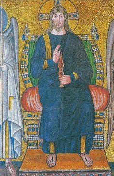 Mosaic from Ravenna, Italy Byzantine Mosaics, Byzantine Art, Ancient History, Art History, Anima Christi, Ravenna Mosaics, Ravenna Italy, Saints, Christian Artwork