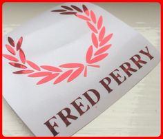 Fred Perry Logo  DECAL/STICKER RED  CHROME SCOOTER DECAL/STICKER  8cm/ 80mm