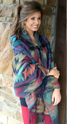 Colorful Design Hooded Poncho – InStyle Auctions & Boutique
