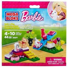 Barbie Kitty Play 44 PIECES ! MEGA BLOKS ! #Barbie