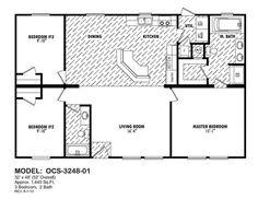 Manufactured home floor plan 2008 karsten cl 250a for 30x50 metal building house plans