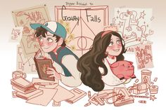 Dipper and Mabel by imamong.deviantart.com on @DeviantArt