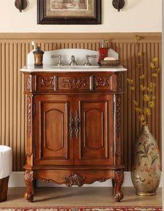 "30"" Old Timer Classic Ellenton Bathroom Sink Vanity model # HF080W-TK - Chans Furniture - 1"