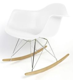 Eames Inspired Eiffel Plastic Rar Lounge Dining Chairs Retro - Rocking Chair