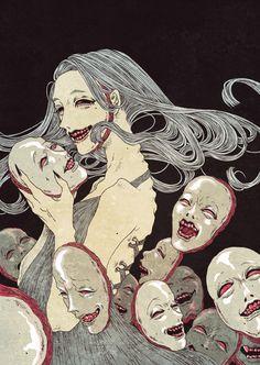 impfaust:  Isn't it great to be happy?:-DArtwork by Riza Ezaki.