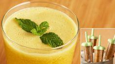 Cantaloupe, Mint, and Mango Juice Pulp-sicles