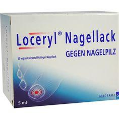 LOCERYL Nagellack gegen Nagelpilz:   Packungsinhalt: 5 ml Wirkstoffhaltiger Nagellack PZN: 09084091 Hersteller: Galderma Laboratorium…