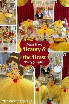 Planning a Beauty and the Beast birthday party? We have everything you need from tutus and tiaras to wands and crafts. Find lots of decorating and food ideas too. Visit us today at www.myprincesspartytogo.com #beautyandthebeast