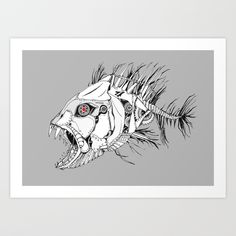 Buy Mechanical Fish Art Print by clarethompson. Worldwide shipping available at Society6.com. Just one of millions of high quality products available.