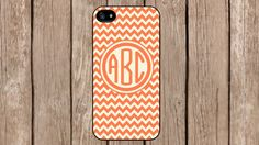 Personalized Monogram Chevron Orange Beige Pattern for iPhone 4/4s/5/5s/5c Samsung Galaxy S3/S4/S5/Note 2/Note 3 by TopCraftCase, $6.99