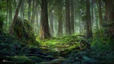 Light of Forest, jeremy chong on ArtStation at https://www.artstation.com/artwork/Ndzb