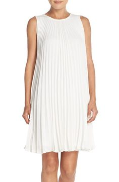 Free shipping and returns on Maggy London Pleated Bubble Crepe Shift Dress at Nordstrom.com. Crisp accordion pleats enhance the flyaway movement of a simple shift dress fashioned from fluid crepe. A flattering crew neckline tops the striking style.