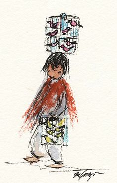"""DeGrazia watercolors from the book """"Brooms of Mexico"""".  #DeGrazia #GalleryInTheSun"""