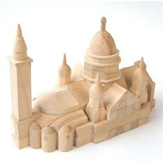No.115 モンマルトル サクレクール寺院  木のおもちゃ 組木 OSKオガワ精機 Children's Toys, Kids Toys, Baby Building Blocks, Calligraphy Pens, Imaginative Play, Xmas Ideas, Beautiful Gifts, Wood Toys, Gifts For Kids