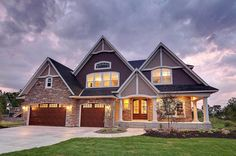 Storybook House Plan with Open Floor Plan - 73354HS   2nd Floor Master Suite, Butler Walk-in Pantry, CAD Available, Country, Craftsman, Den-Office-Library-Study, Exclusive, Jack & Jill Bath, Loft, Luxury, MBR Sitting Area, Media-Game-Home Theater, PDF, Photo Gallery, Premium Collection, Sloping Lot   Architectural Designs