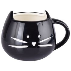 Amazon.com | Artpot High quality Cute Little Black Cat Tea, Coffee,... (2.740 HUF) ❤ liked on Polyvore featuring home, kitchen & dining, drinkware, coffee tea cups, ceramic tea cups, ceramic tea mug, black cat mug and coffee mugs