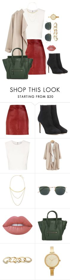 """""""complicated"""" by edkth on Polyvore featuring Sandro, Jimmy Choo, Thierry Mugler, Jennifer Zeuner, Linda Farrow, Lime Crime, CÉLINE, GUESS and Michael Kors"""