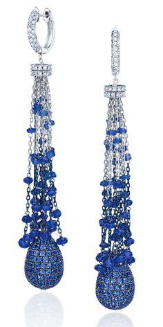 Cascading Sapphire Tassel Earrings - Cellini Jewelers.com