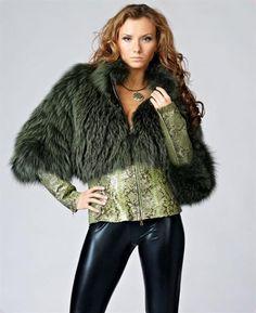 Куртка женская отделка мехом