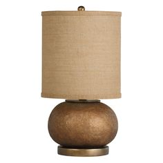 Kichler Table Lamp with Brown Shade in Composite Finish | 70881 | Destination Lighting