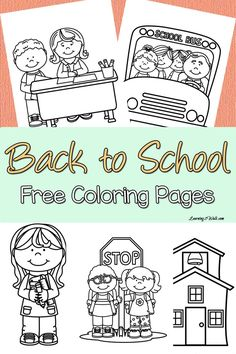 Printable back-to-school themed coloring pages to help your kids transition from summer to school Kids nervous about going back to school? Enjoy these back to school free coloring page set to help your kids transition to their new school year. Kindergarten Coloring Pages, Kindergarten Colors, Homeschool Kindergarten, Preschool Classroom, Kindergarten Orientation, Future Classroom, Back To School Party, Back To School Crafts, Back To School Activities