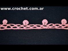 Puntilla N° 55 en tejido crochet tutorial paso a paso. - YouTube