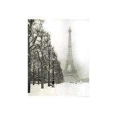 Amazon.com: PARIS IN SNOW FRANCE EIFFEL TOWER POSTER FINE ART PRINT:... ($8.88) ❤ liked on Polyvore featuring backgrounds, paris, pictures, art and fillers