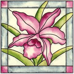 orchid stained glass - Google Search