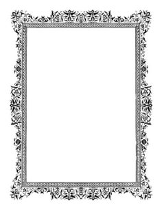 This antique border suggests vines and flowers in shades of black and white. The lace look makes it appropriate for Victorian signage and even photo frames. Free to download and print.