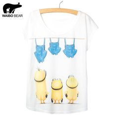 Fashion Summer T Shirt Women Despicable Me White Shirt Female Short Sleeve Cute Minions Printed Tee Shirt Lady Like if you remember http://www.lady-fashion.net/product/new-arrival-fashion-summer-t-shirt-women-despicable-me-white-shirt-female-short-sleeve-cute-minions-printed-tee-shirt-lady/ #shop #beauty #Woman's fashion #Products
