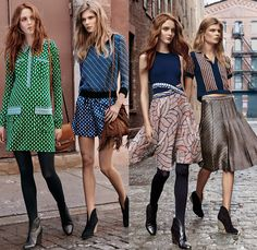 Diane Von Furstenberg 2016 Pre Fall Autumn Womens Lookbook Presentation - Stripes Wide Leg Trousers Palazzo Pants Culottes Gauchos Blouse Long Sleeve Patchwork Bomber Jacket Silk Satin Leather Furry Shaggy Vest Knit Sweater Jumper Stockings Leggings Tights Accordion Pleats Geometric Skirt Frock Moto Motorcycle Biker Leather Shearling Dress Cardigan Wrap Turtleneck Halter Top Colorblock Noodle Strap Dress With Cardigan, Wrap Cardigan, Denim Jeans, Striped Wide Leg Trousers, Biker Leather, Trends, Tight Leggings, Palazzo Pants, Fashion Lookbook